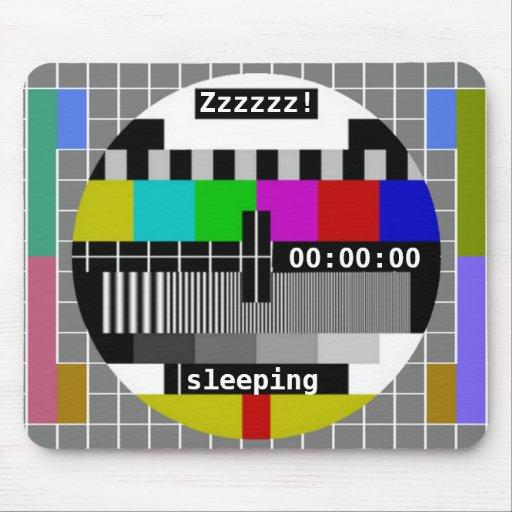 Tv Test Card Closedown Mousepads