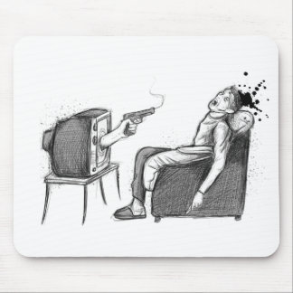TV will kill you! Mouse pad
