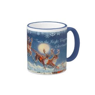 'Twas the NIGHT BEFORE CHRISTMAS by SHARON SHARPE Ringer Mug