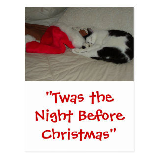 Twas the Night before Christmas Kitten Postcard