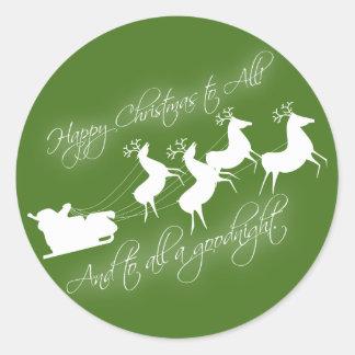 """Twas the night before Christmas"" Sticker"