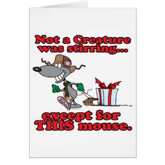 twas the night christmas mouse cartoon greeting card