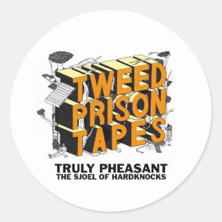 Tweed Prison Tapes Round Sticker