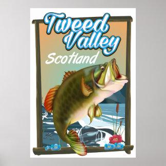 Tweed Valley Scotland Fishing poster