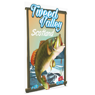 Tweed Valley Scotland Fishing poster Canvas Print