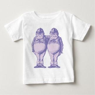 Tweedle Dee and Tweedle Dum Inked Lavender Baby T-Shirt