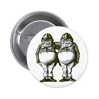 Tweedle Dee & Tweedle Dum 6 Cm Round Badge