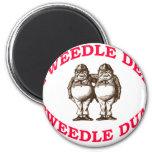 Tweedle Dee & Tweedle Dum 6 Cm Round Magnet