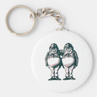Tweedle Dee & Tweedle Dum Key Ring