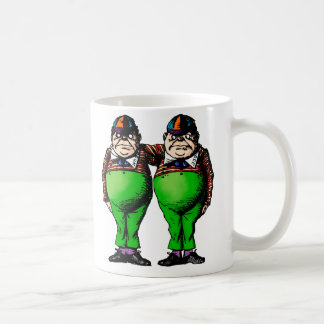 Tweedles Dum & Dee Basic White Mug