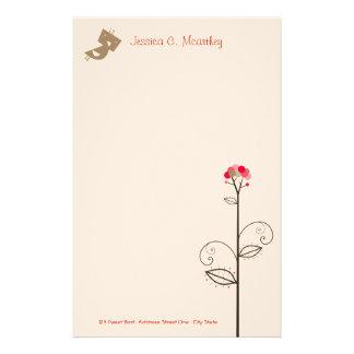 Tweet Bird | *01 Cute Whimsical Custom Stationery