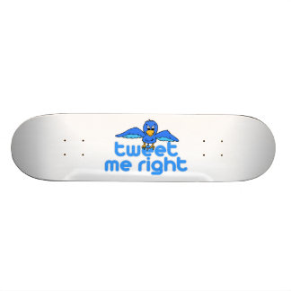 Tweet Me Right 19.7 Cm Skateboard Deck