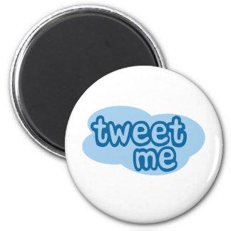 tweet me (twitter) 6 cm round magnet