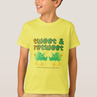 Tweet & Retweet Kids Light Tees