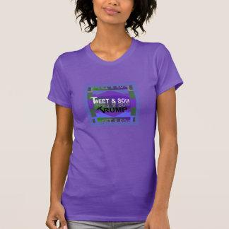 TWEET & SOUR TRUMP Shirt for Her- Purple/Blue