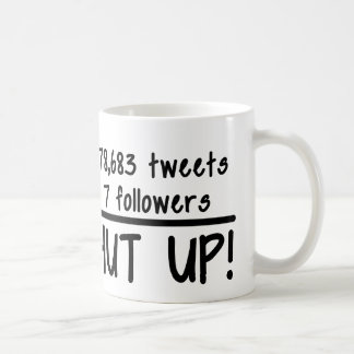 Tweet Too Much Funny Coffee Mug