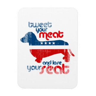Tweet your meat and lose your seat - Faded.png Rectangular Photo Magnet