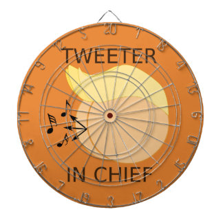 Tweeter in Chief Donald Trump Cartoon Dartboard