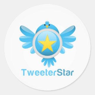TweeterStar - Get More Followers -Round  Sticker