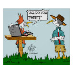 "Tweeting Bird Poster ""Do You Tweet"""