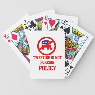 tweeting design bicycle playing cards
