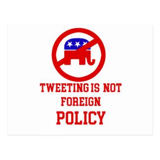 tweeting design postcard