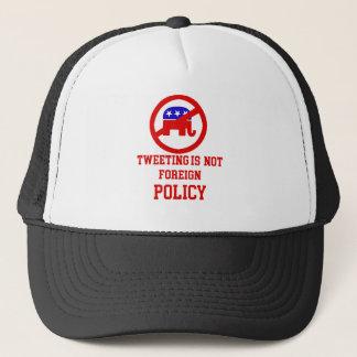 tweeting design trucker hat