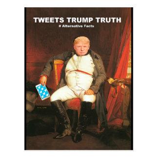 Tweets Trump Truth Postcard