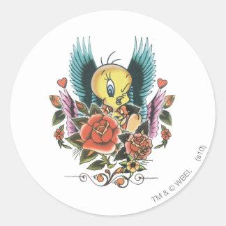 Tweety Blue Wings Classic Round Sticker