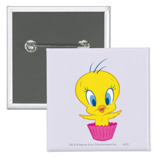 Tweety Cupcake 15 Cm Square Badge