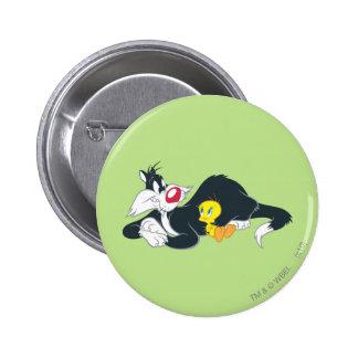 Tweety In Action Pose 14 6 Cm Round Badge