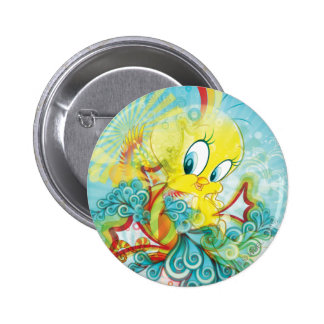 Tweety In Blue Wave 6 Cm Round Badge