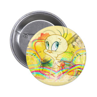 Tweety In Rainbows 6 Cm Round Badge
