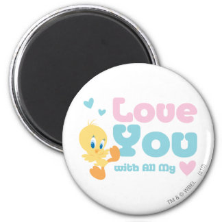 "Tweety ""Love You With All My Heart"" Magnet"