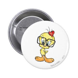 Tweety Nerd 6 Cm Round Badge