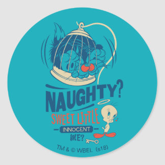 TWEETY™- Sweet Little Innocent Me? Classic Round Sticker