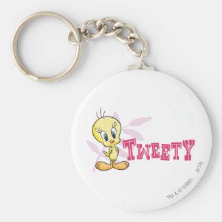 "Tweety ""Tweety"" Pink Keychain"