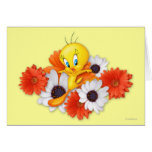 Tweety With Daisies Greeting Card