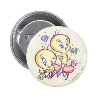 Tweety with Gems 6 Cm Round Badge