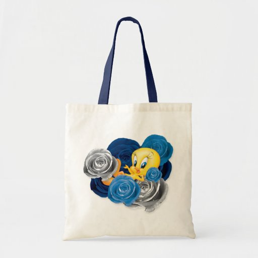 Tweety With Roses Canvas Bag