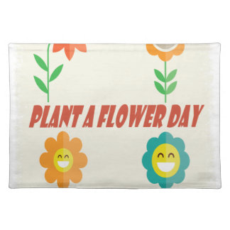 Twelfth March - Plant a Flower Day Place Mats