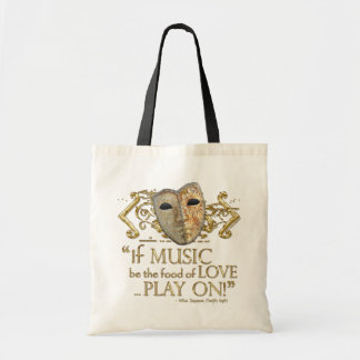 Twelfth Night Music Quote (Gold Version) Bag
