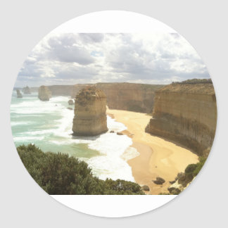 Twelve Apostles Great Ocean Road Round Sticker