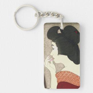 Twelve Aspects of Women, Lipstick Torii Kotondo Double-Sided Rectangular Acrylic Key Ring