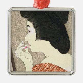 Twelve Aspects of Women, Lipstick Torii Kotondo Silver-Colored Square Decoration