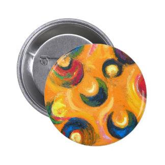 Twelve Black Crescents in the Orange Sky Button