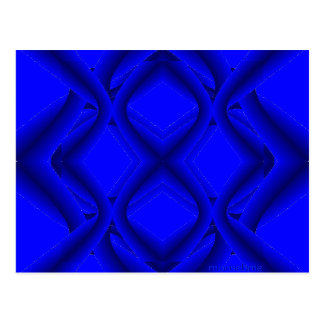 Twelve Blue Lines and Eights Post Card