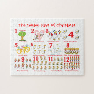 Twelve Days of Christmas Jigsaw Puzzle