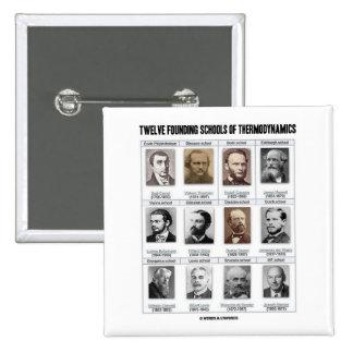 Twelve Founding Schools Of Thermodynamics Pinback Buttons