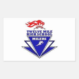 Twelve Mile, IN. High School Rectangular Sticker